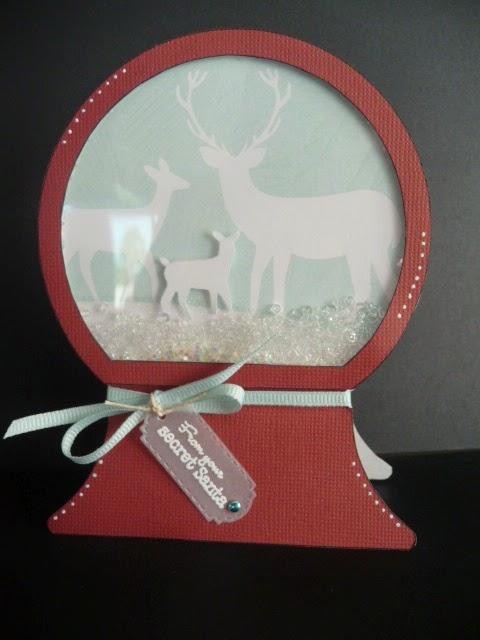 Christmas shape shaker card set - Jeri Thomas