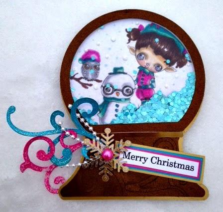 Christmas shape shaker card set - Tina Goodwin