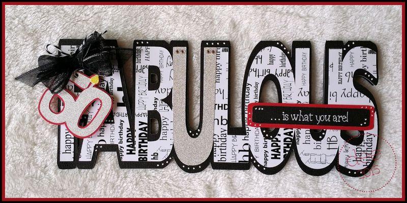 FABULOUS WORD SHAPED CARD - Dee Jones