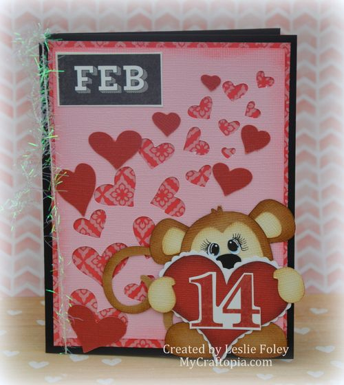 VALENTINE WINDOW CARD TOPS - LESLIE FOLEY