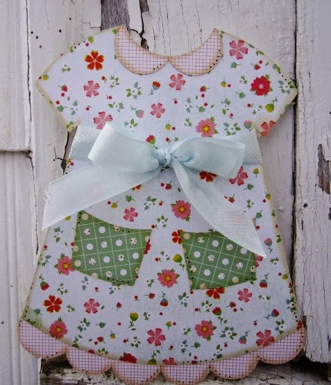 Dress shaped card 2 - Debbie Fisher