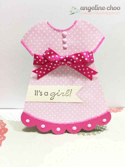 Dress shaped card 2 - Angeline choo