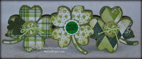 4 leaf clover shaped card Leslie Foley