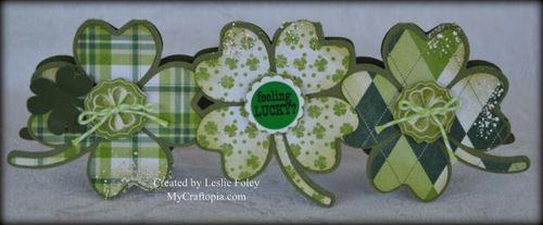 4 leaf clover shaped card Leslie Foley