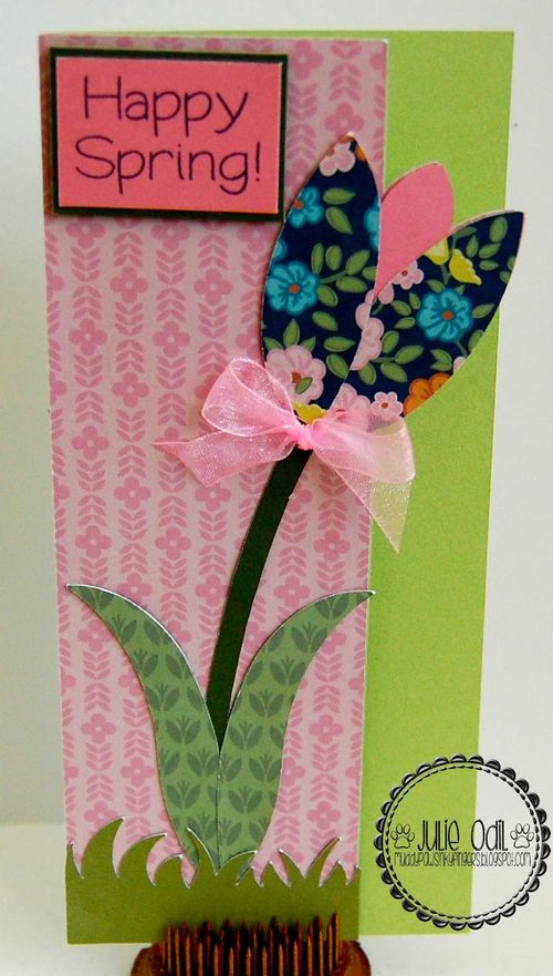 Tulip card set and grass shaped card - Julie Odil