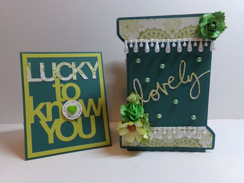 Ribbon spool set and lucky to know you overlay - Audrey Long