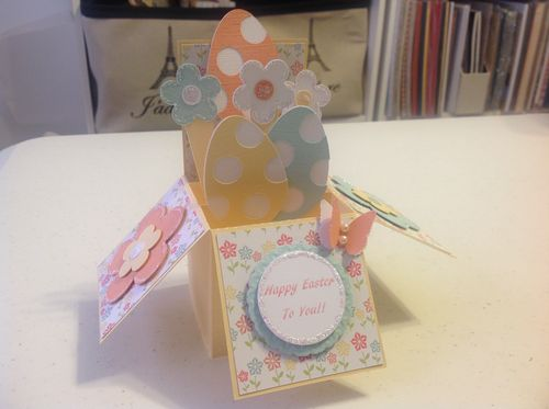 Katryce Townsend - Card in a box set and Easter overlays and shaker cards