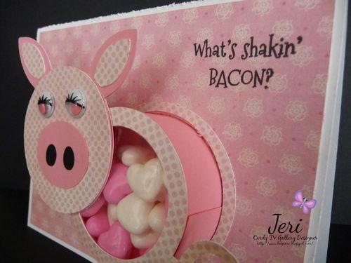 Pig treat cup card - Jeri Thomas