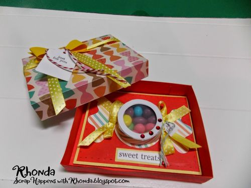 CANDY TREAT CUP CARD - RHONDA EMERY