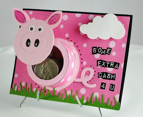 Pig treat cup - Lisa Snowdy