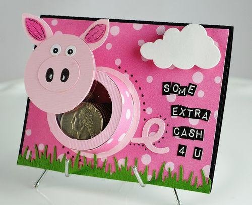Pig treat cup - Lisa Snowdy