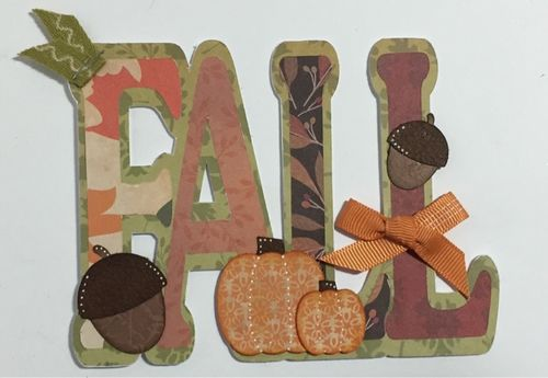 FALL word shaped card - KERI PARISH