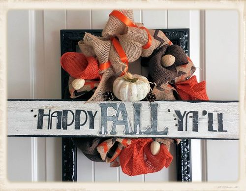 Fall word shaped card - Lisa Minckler