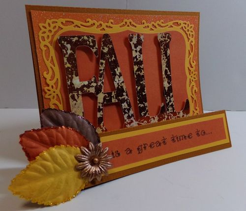 Fall word shaped card - Audrey Long