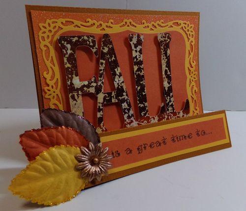 Fall word shaped card - Audrey Long