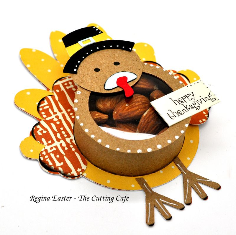 Turkey treat cup with almonds