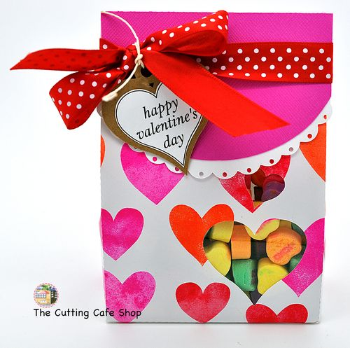 Mini heart lunch bag