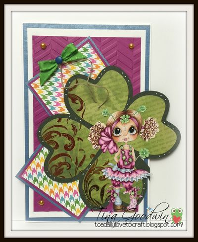 4 leaf clover shaped card - lisa snowdy