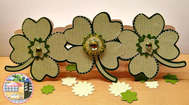 4 leaf clover trio shaped card - rhonda zmikly