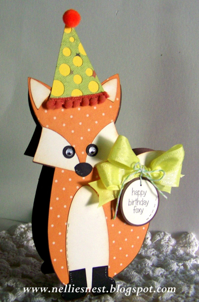 Fox shaped card - diane hover