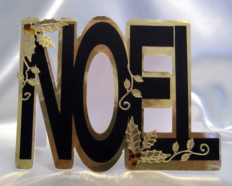 Gail meinen - noel word shaped card