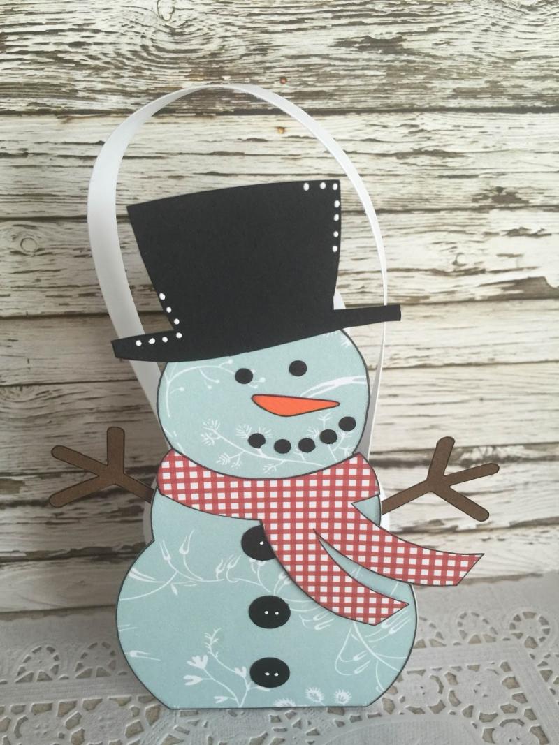 Snowman treat box - jeri thomas