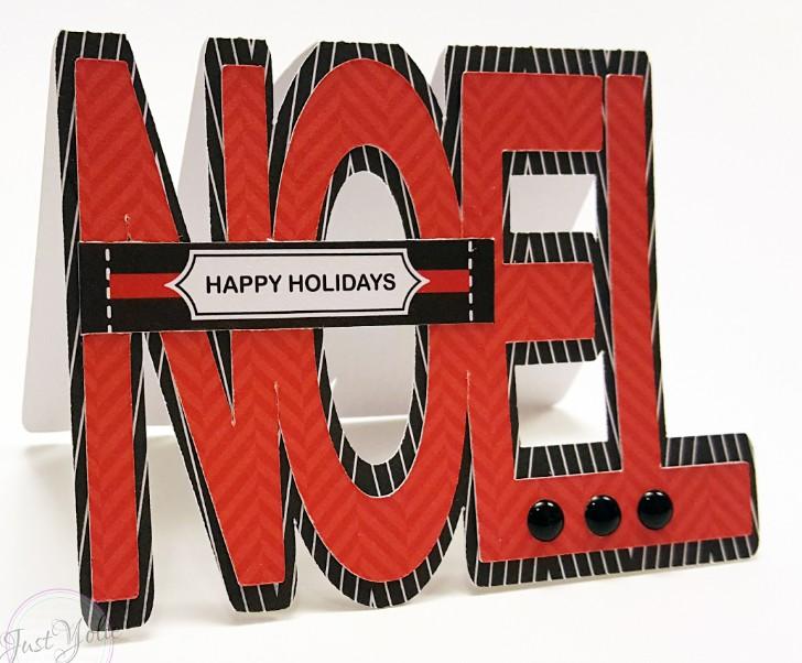 Noel word shaped card - yolie