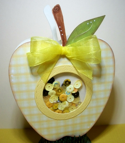 Apple shaped card - larelyn