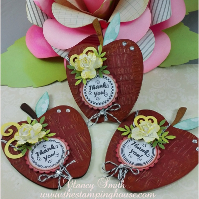Apple shaped card - clancy smith