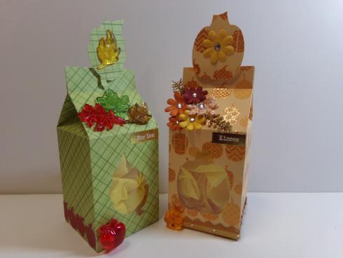 Halloween and fall milk cartons - Audrey Long