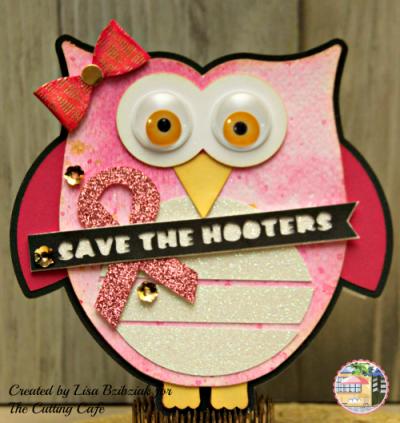 Owl shaped card - lisa bzibziak