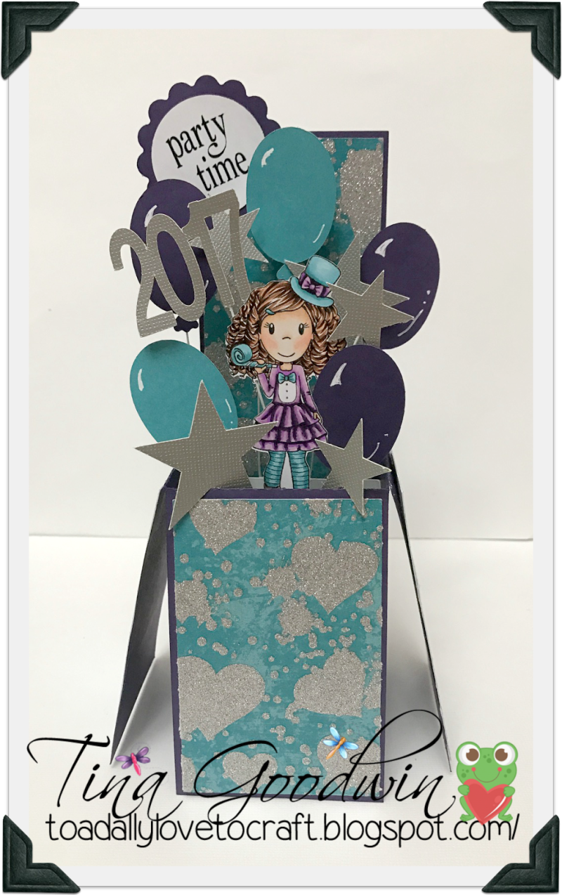 Tina goodwin - card in a box - 2017 number shaped card