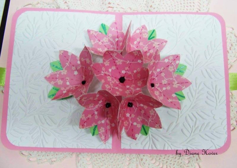 Diane hover - flower pop up card 1