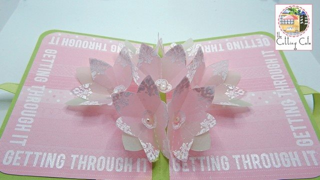 Kim venezia - flower pop up card 1