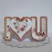 Maria l i heart you word shaped card