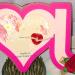 Shanta - i heart you word shaped card