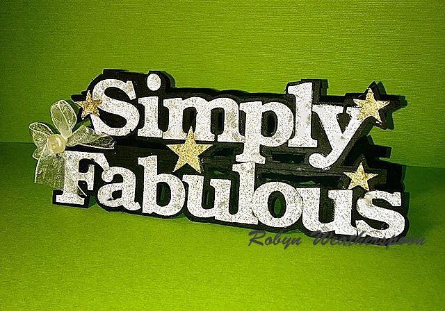 SIMPLY FABULOUS - ROBYN