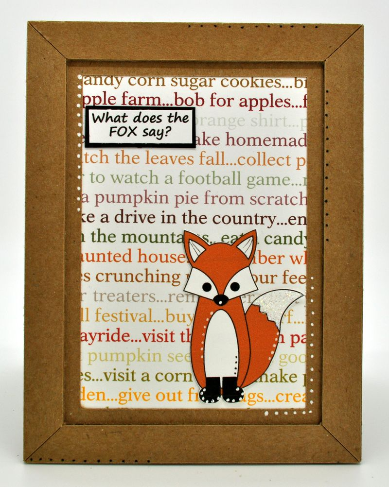 Fox autumn card