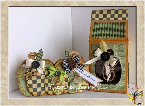 Trio pumpkins and halloween milk cartons - Lisa Minckler