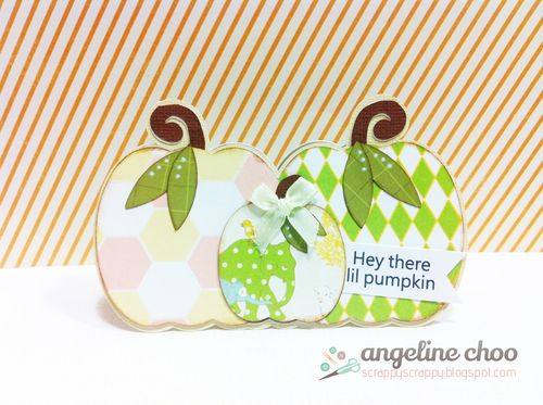 PUMPKIN TRIO SHAPED CARD SET - Angeline Choo