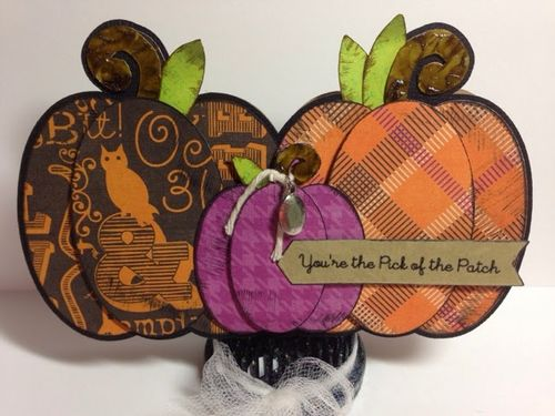 PUMPKIN TRIO SHAPED CARD SET -Keri Parish