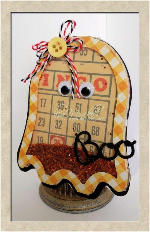 Halloween and fall shaker cards - Lisa Minckler