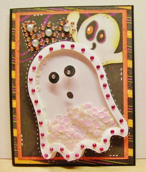 Halloween and fall shaker cards - Rhonda Zmikly