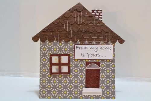 Chauntelle Lee - House shaped card