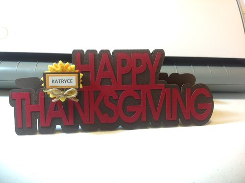 Happy thanksgiving word shaped card - Katryce Townsend