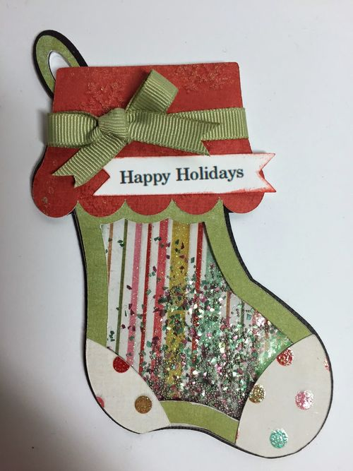 Christmas shape shaker card set - Keri Parish
