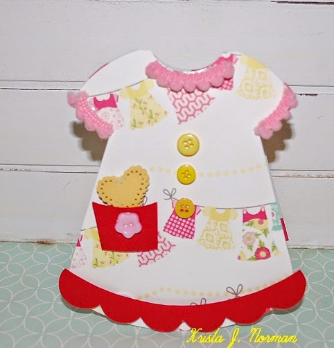 Dress shaped card 2 - Krista Norman