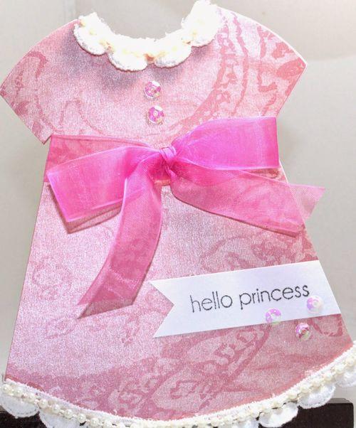 Dress shaped card 2 - Chauntelle Lee