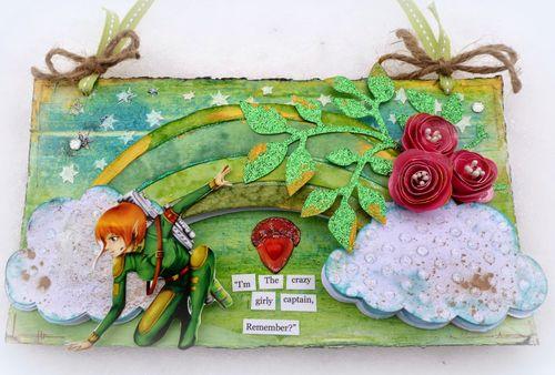 Rainbow shaped card - Mitra Pratt