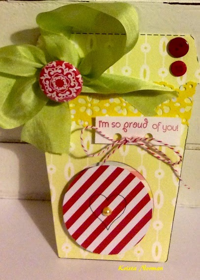 Coffee cup shaped card 2 - Krista Norman